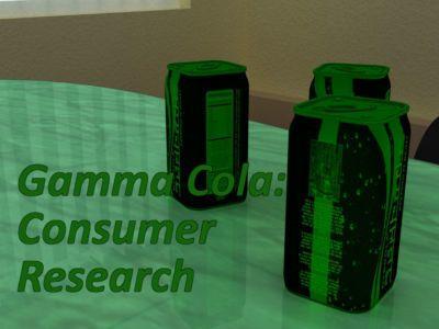 Gamma Cola:Consumer Research