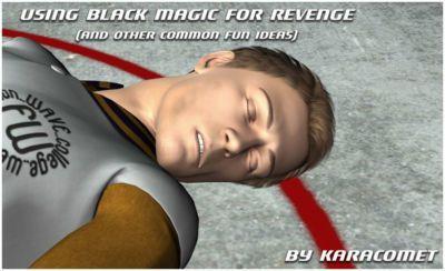 使用 黑色的 魔術 對于 復仇