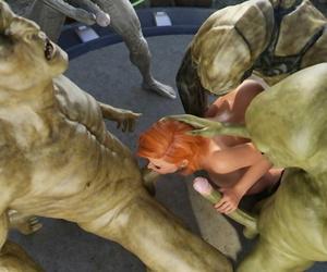 Goldenmaster First Contact - 11 alien gangbang - part 3