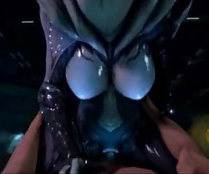 3D Alien Pussy Rides Human Cock - 2 min