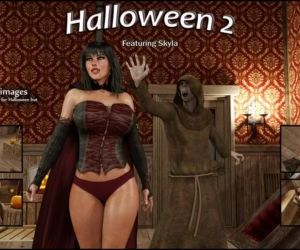 Comics Blackadder- Halloween 2,3D sex, anal , blowjob  monster