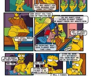 Comics A Day in Life of Marge - part 2, blowjob , family  incest