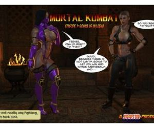 Comics Joos3DArt- Sonya Vs Mileena, blowjob , threesome  double penetration