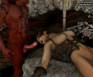 Comics 3Dfiends Monster Chronicles Ch. 8, blowjob , forced  monster