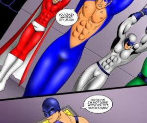 Comics The Super Studs 2, bondage , superheroes  iceman blue