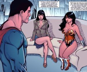 Comics Supertryst, threesome , superheroes  superman