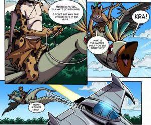 Comics Space Man vs Savage Boy furry