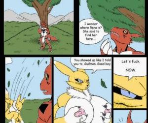Comics Pent Up - A Digimon Smut Comic, digimon  furry