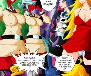 Comics Panty & Stocking Angels vs Demons, gangbang , orgy  dick growth
