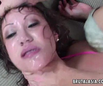 Her sweet ass gets fucked as she moans hard - 8 min