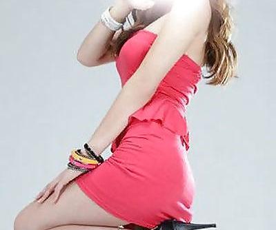 sexy blonde korean model