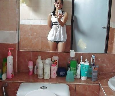 Petite Thai girl tales self shots..