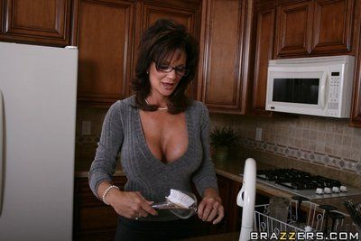 Hot mom with big boobs Deauxma stripping and spreading her pussy