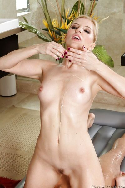 Ravishing masseuse gives a cock teasing treatment to her hung client - part 2