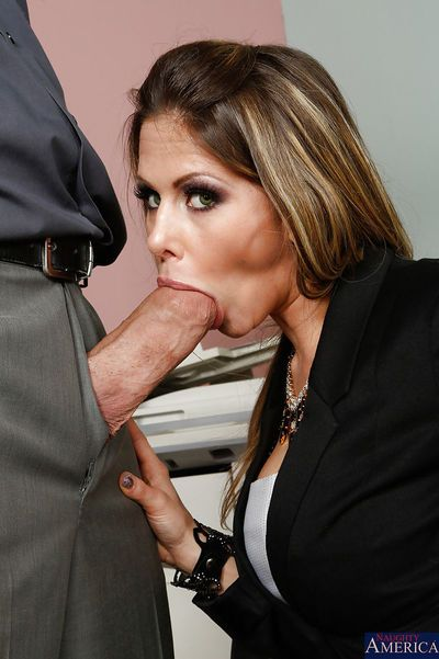 Caring milf Rachel Roxxx excites her boss with her blowjob skills - part 2