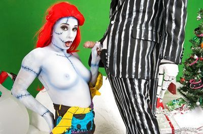 Amateur chick Joanna Angel and guy don creepy cosplay outfits before fucking - part 2