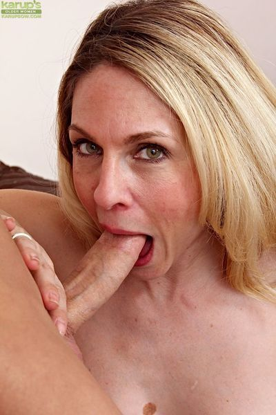 Juggy cougar gives a nooky with ball licking and gets shagged hard - part 2