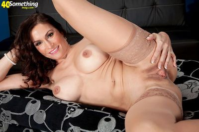 Raven LeChance works her mature pussy after gently removing her hot lingerie