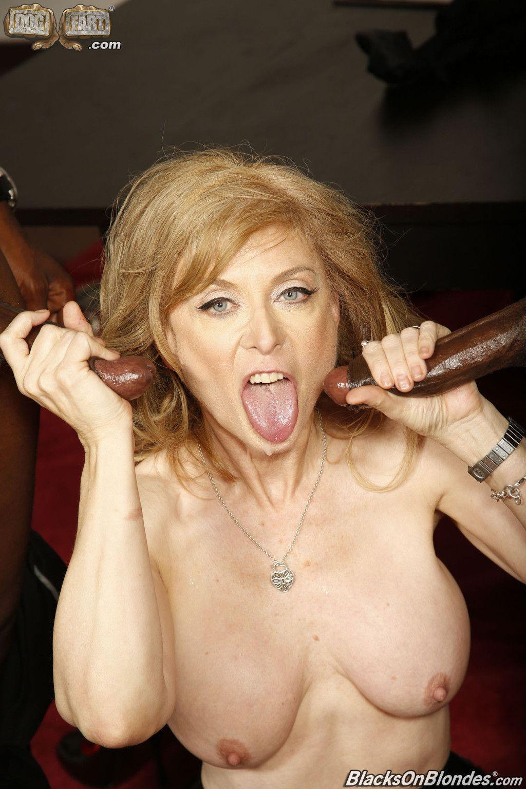 Nina hartley fucking 2 big black dicks at dogfart