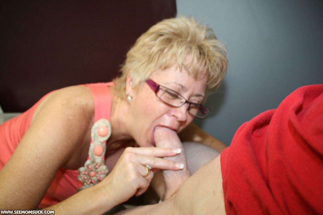 Milf giving blowjob