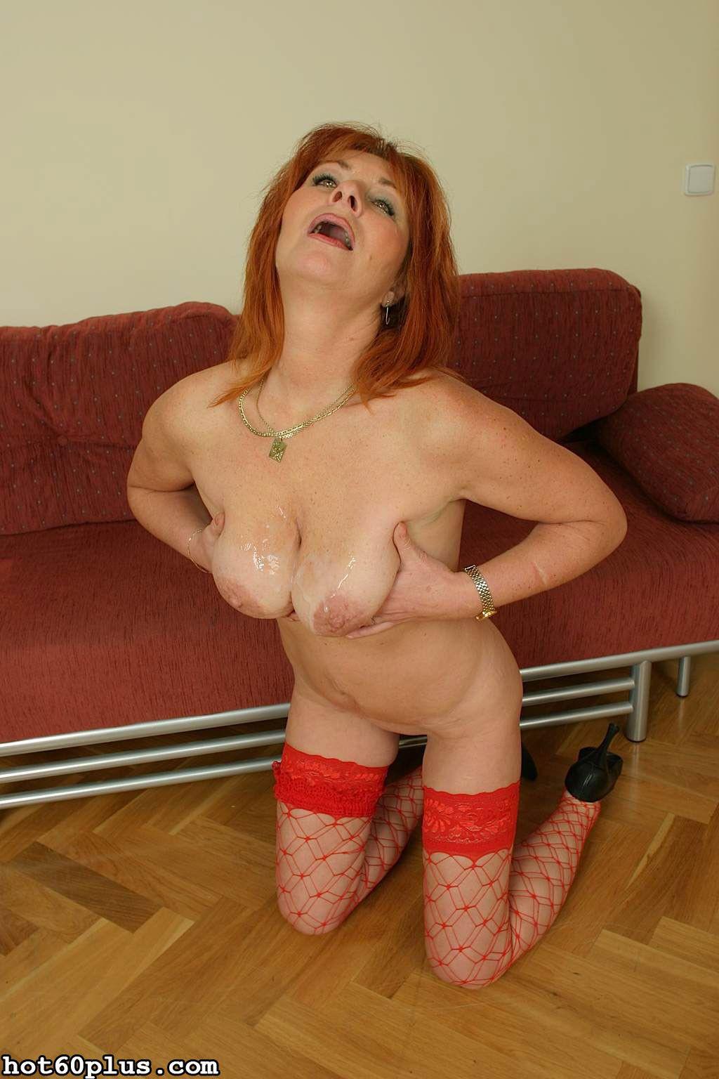 Martina - mature slut in red fishnets