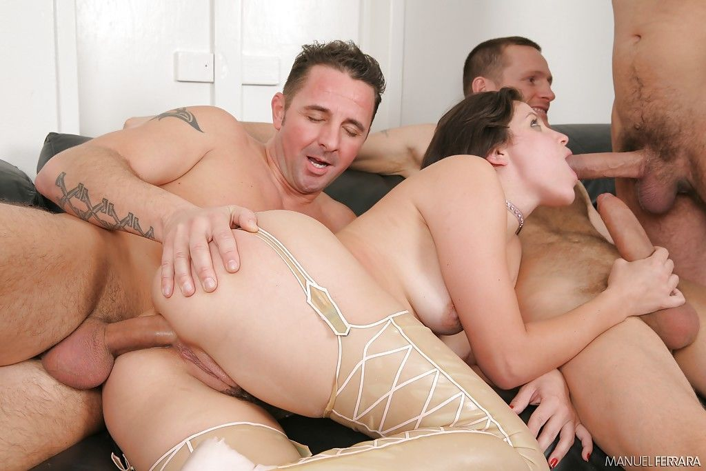 Filthy whore Bobbi Starr taking wicked triple penetration - part 2