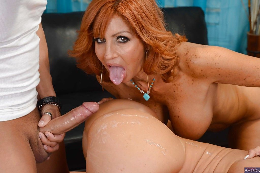 Two ladies Janet Mason and Tara Holiday are sucking a horny pole - part 2