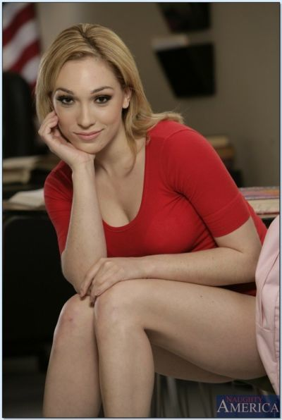 Sizzling college hottie Lily LaBeau showing off tight booty and tits