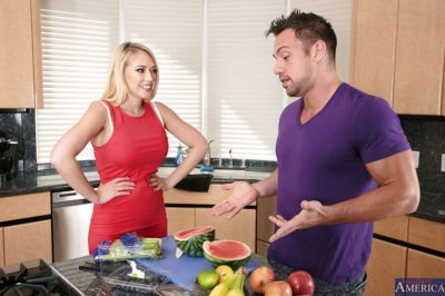 Kagney Linn Karter likes dirty cock sucking action with her man