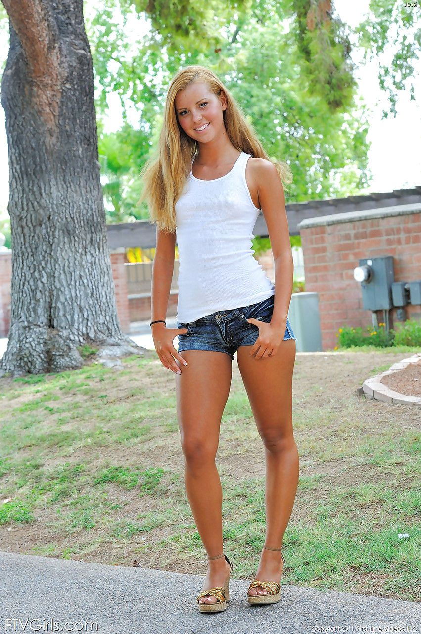 flexible amateur babe sliding panties and shorts over phat teen