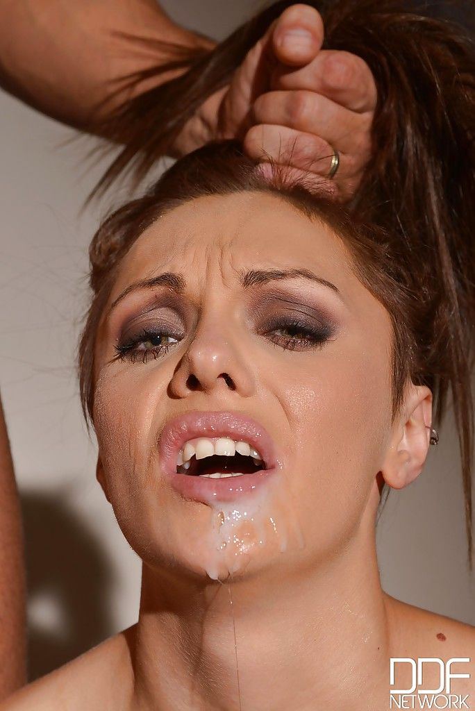 Dominica Phoenix is forced to deepthroat cock during BDSM training session