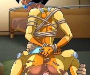Picture- American Cartoon Chick in Bondage