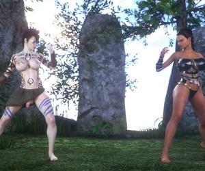 SuperT – Cavegirl Zoey Vs. Warrior Krissy