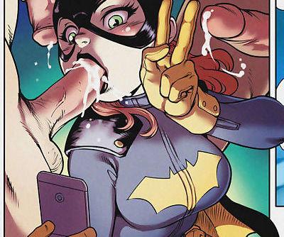 Batgirl having fun.