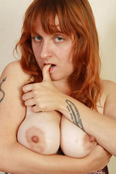 Mature girlie in high-heels Velma is a redhead tart with hairy cavern - part 2