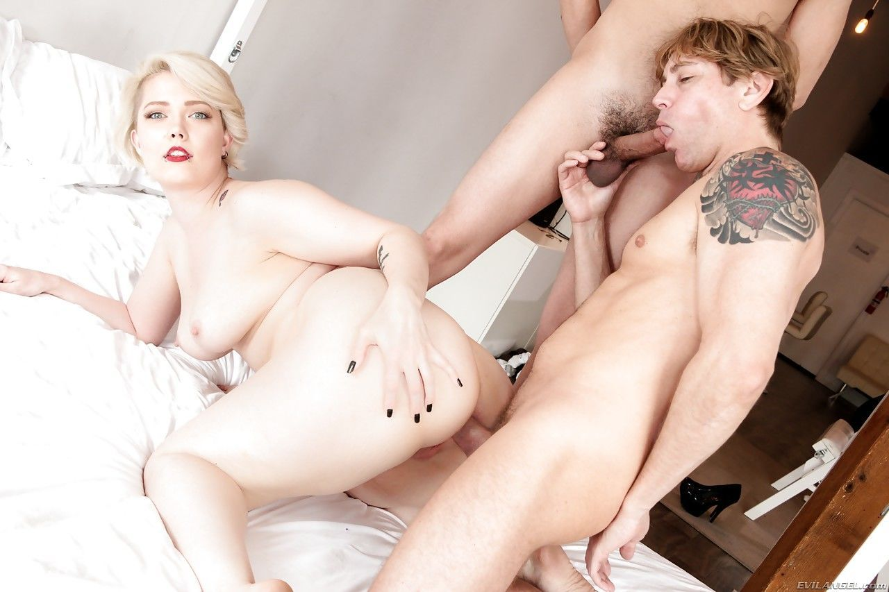 Irresistible chubby hottie Denali gets nailed by two big cocks - part 2