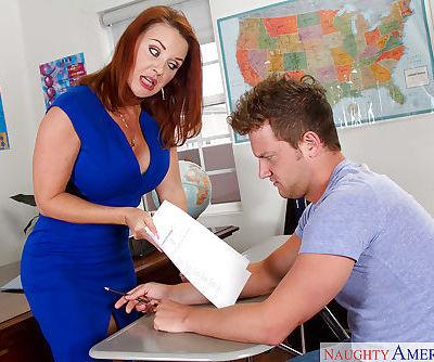 Older redhead teacher Janet Mason..