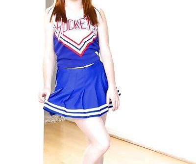 Cute redhead cheerleader Jessie..