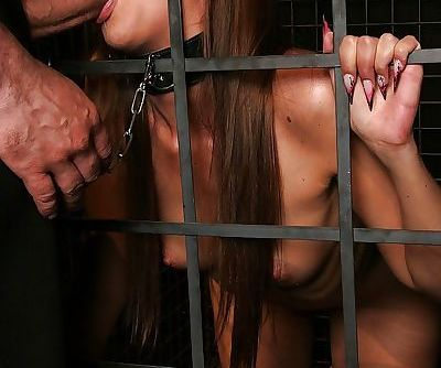 Lascivious BDSM gal gets her..