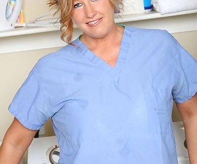 Chubby mature nurse with big..