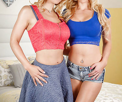 Young blondes Alix Lynx and Sarah..