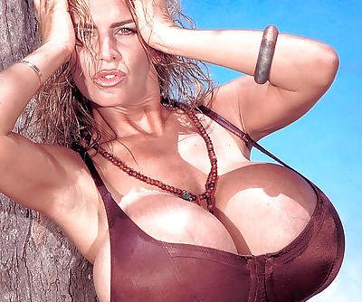 Older big tit model Busty Dusty..