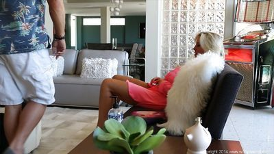 Fantastic blonde housewife Sandra Otterson with big tits in the action