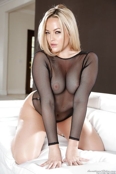 Bare legged MILF Alexis Texas in sheer lingerie flaunting her sexy bare ass