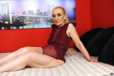 European granny and her much younger lover get up to a hard fuck session