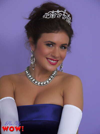Prom queen Kelly Hall undresses to her vintage undies after accepting crown