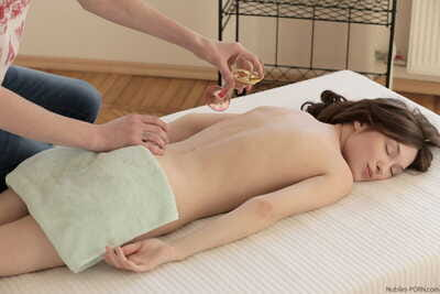 Small tit Julie Vee gets her cunt fingered and rammed by her horny masseur