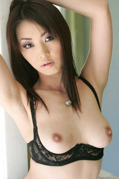 Erotic Asian Marica Hase swallows a liquid ton of cum in wild blowbang