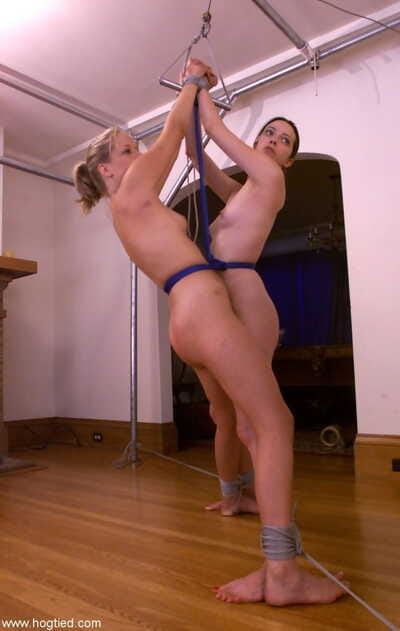 Anna Mills & Molly Matthews are tied together with rope and flogged