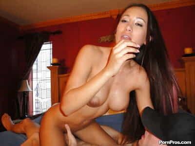 Ltina girl with big tits Amia Miley plays magic on guys huge dick